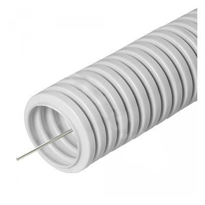 Ecoplast 60120HFR, труба ПП гофрированная легкая с зондом без галогена d20 мм