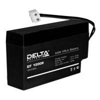 Delta DT 12008, свинцово-кислотный аккумулятор