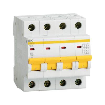 ВА47-29 4Р 25А 4.5кА (MVA20-4-025-C), автоматический выключатель