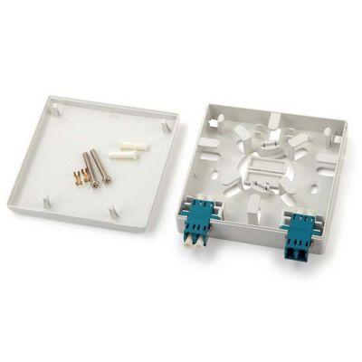 Hyperline FO-WB86-FTTH-2DLC-PLC, бокс-розетка оптический настенный