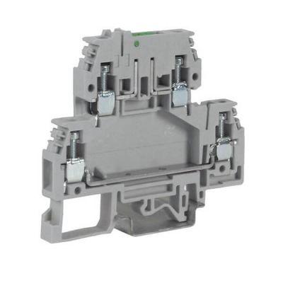DKC / ДКС ZDA100, проходной зажим 4 кв.мм, с 2 уровнями, верхний под предохранитель DSFA.4