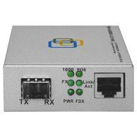 Медиаконвертер 10/100/1000-Base-T / 10/100/1000Base-FX с SFP-портом